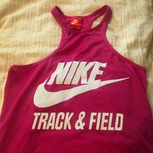 Pink Nike Track & Field Tank Top